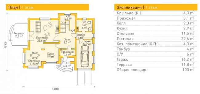 Проект дома-86