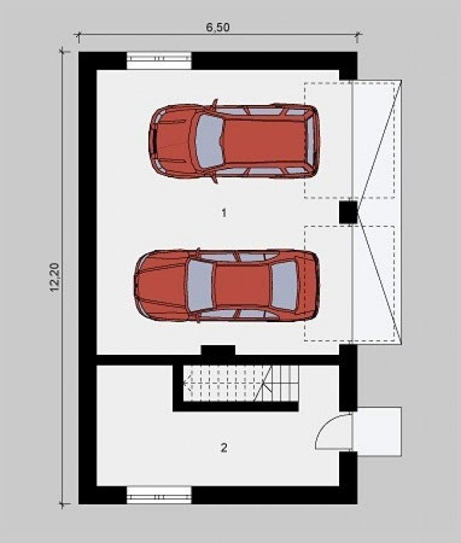 Проект гаража-136
