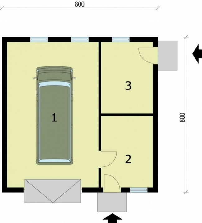 Проект гаража-200