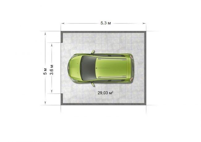 Проект гаража-51