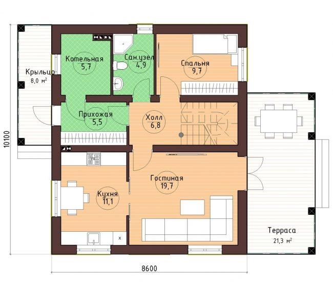 Проект дома-35