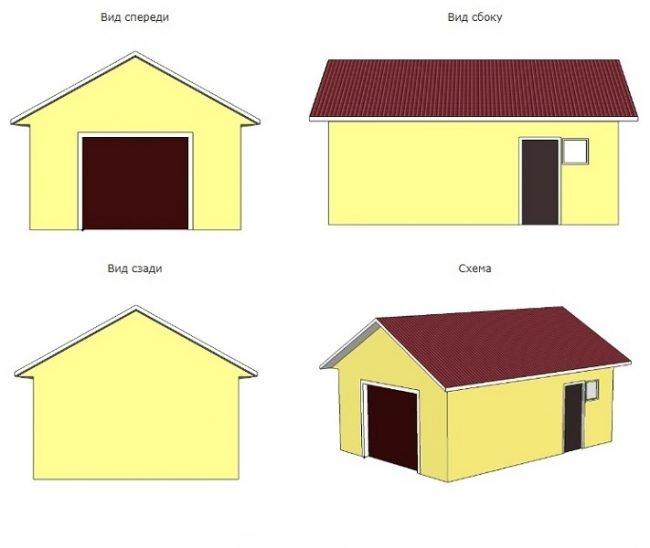 Проект гаража-62