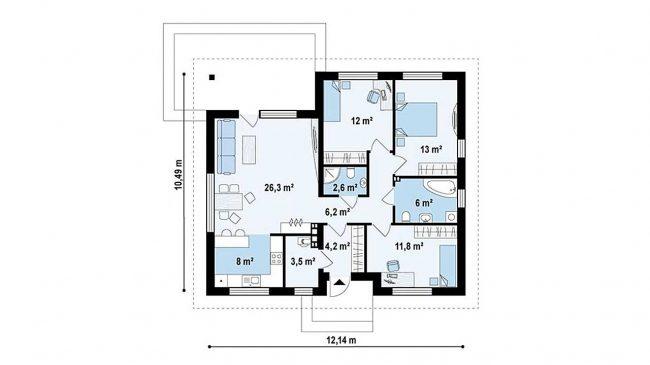 Проект дома-79