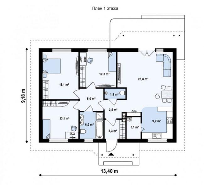 Проект дома-457