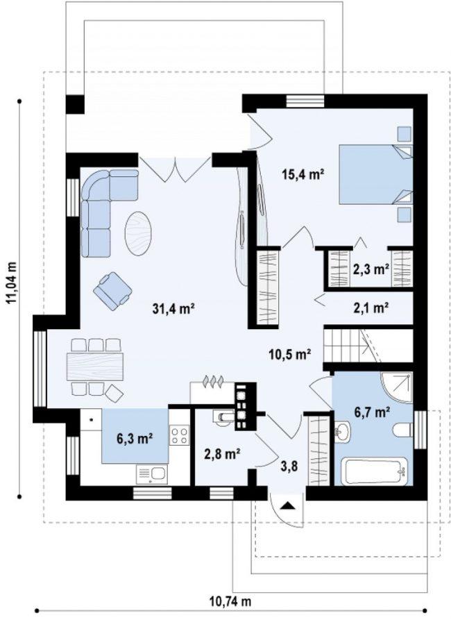 Проект дома-494