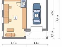 Проект гаража-211